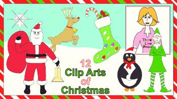 12 Clip Arts of Christmas