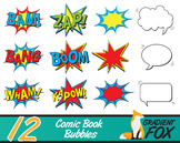 12 Comic Book Bubbles