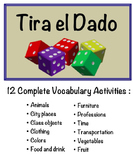 12 Spanish Vocabulary Speaking Activities with Dice for Small Groups