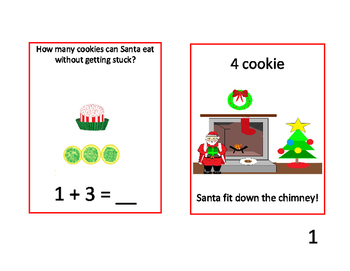 12 Cookies of Christmas Adding Task Cards