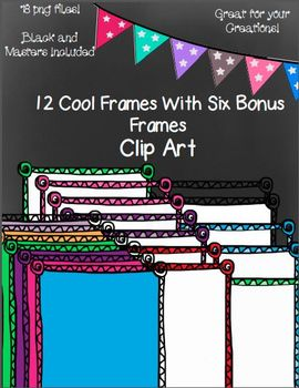 12 Cool Frames and an Additional 6 Bonus Frame Pack