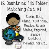 12 Countries File Folder Matching Set #1