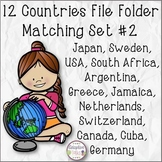 12 Countries File Folder Matching Set #2