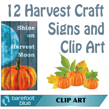 12 Craft signs and autumn clip art