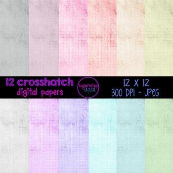 12 Crosshatch Digital Papers Backgrounds Scrapbooking