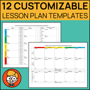 12 Customizable Lesson Plan Templates