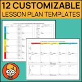 12 Customizable Lesson Plan Templates