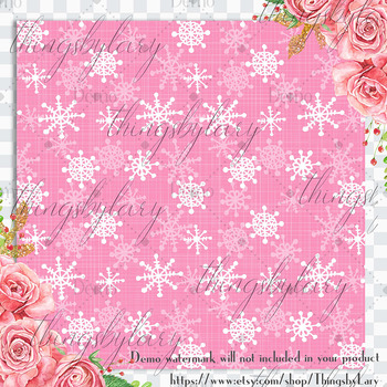 12 Cute Christmas Pattern Digital Papers in Baby Color