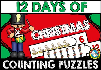 CHRISTMAS MATH CENTER: 12 DAYS OF CHRISTMAS PUZZLES: COUNTING PUZZLES
