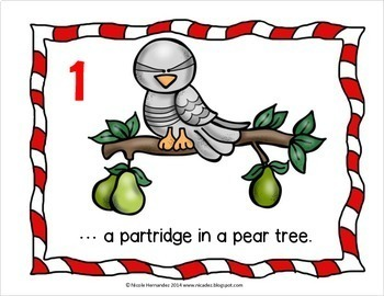 Christmas Counting - 12 DAYS OF CHRISTMAS - Visual Aids