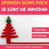 12 Días de Navidad: Spanish Song to Practice Cardinal and