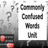 12-Day Mini-lesson Unit on Commonly Confused Words - Inclu
