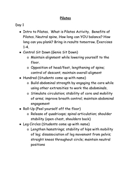 12 Day Pilates Class