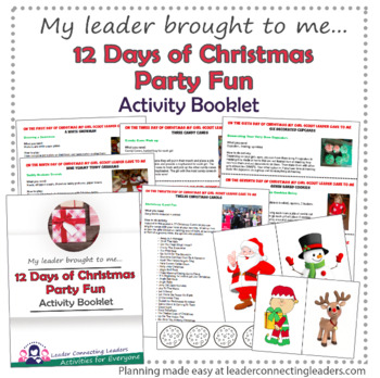 12 Days Of Christmas Party Activity Booklet