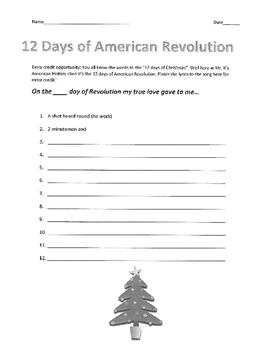 12 Days of American Revolution