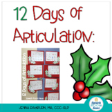12 Days of Articulation: {FREEBIE Christmas Craftivity}