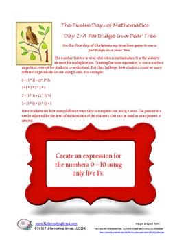 12 Days of Christmas 4-7 Activity Packet