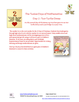 12 Days of Christmas 8-12 Activity Packet