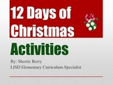 12 Days of Christmas Activities - to Engage Young Writers