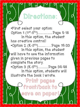 12 Days of Christmas Book Writing Activity
