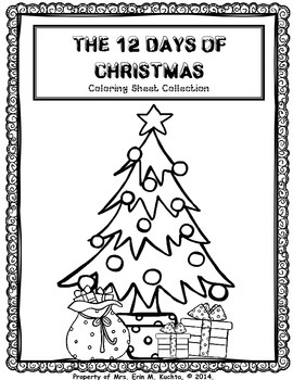 12 Days of Christmas - COLORING SHEETS