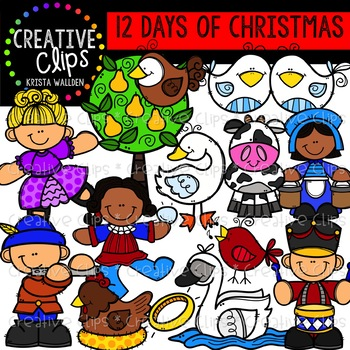 12 Days of Christmas Clipart {Creative Clips Clipart}