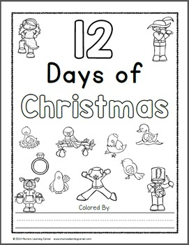 12 Days Of Christmas Coloring Pages By Mama S Learning Corner Tpt