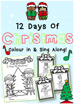 12 Days of Christmas Colour in + Sing Along