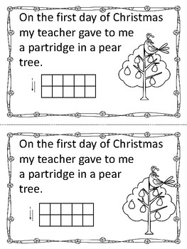 12 Days of Christmas Count and Show Math Booklet