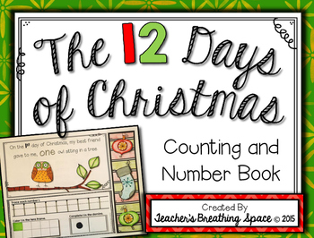 12 Days of Christmas Counting and Number Book