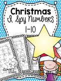 Christmas I Spy Numbers 1-10