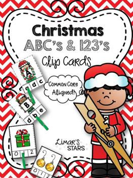 Christmas ABC's & 123's Clip Cards {NO DITTOS}