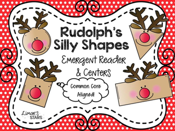Rudolph Shapes Emergent Reader & Centers