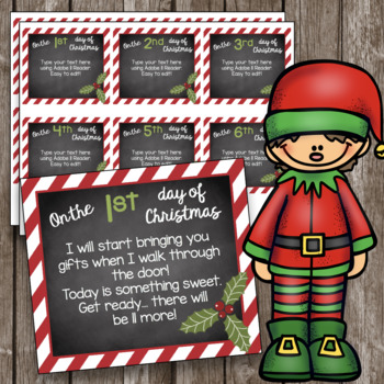 How Many Gifts Are In The Twelve Days Of Christmas.12 Days Of Christmas Editable Cards Twelve Days Activities Poems Gifts