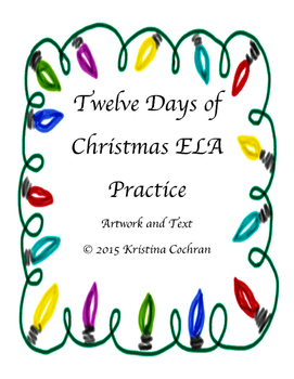 12 Days of Christmas ELA Ornaments