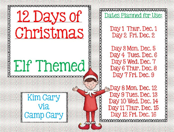 12 Days of Christmas- Elf Themed Gifts for Others