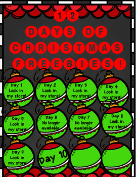 12 Days of Christmas FREEBIE Day 10 {New Year's Day Colori