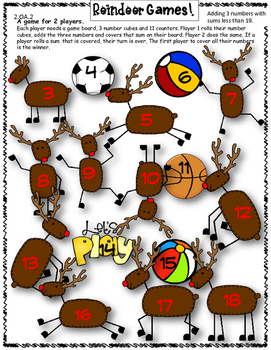 12 Days of Christmas FREEBIE Day 3! {Print and Go Math Games}