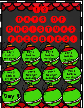 12 Days of Christmas FREEBIE Day 9! {New Year Printables}