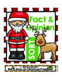 12 Days of Christmas: Fact and Opinion Sort