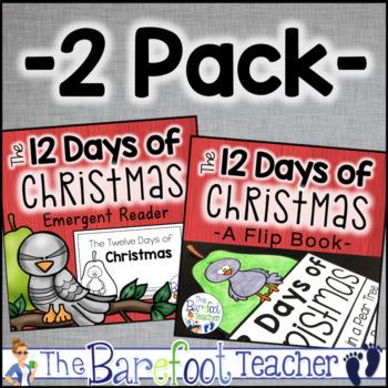 12 Days of Christmas Flip Book & Emergent Reader - 2 Pack Bundle