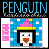 Free Penguin Winter Activity - Hundreds Chart Mystery Picture