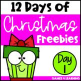 12 Days of Christmas Activities - Freebie 1 - Math Game