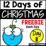 12 Days of Christmas Freebies DAY 11 - Free Christmas Activities