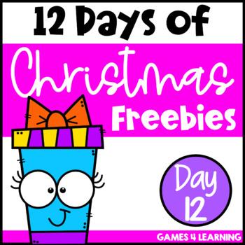 Twelve Days of Christmas Freebies DAY 12 - Free Christmas Activities