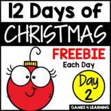 Twelve Days of Christmas Activities - Freebie 2 - Math Game for Addition