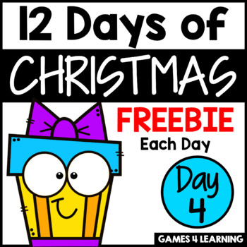 12 Days of Christmas Freebies DAY 4 - Free Christmas Activities