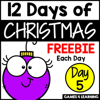 12 Days of Christmas Freebies DAY 5 - Free Christmas Activities