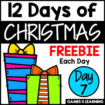 12 Days of Christmas Freebies DAY 7 - Free Christmas Activities