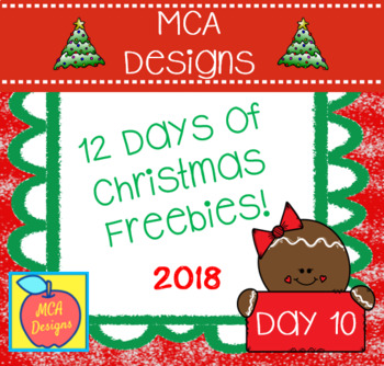 12 Days of Christmas Freebies - Day 10